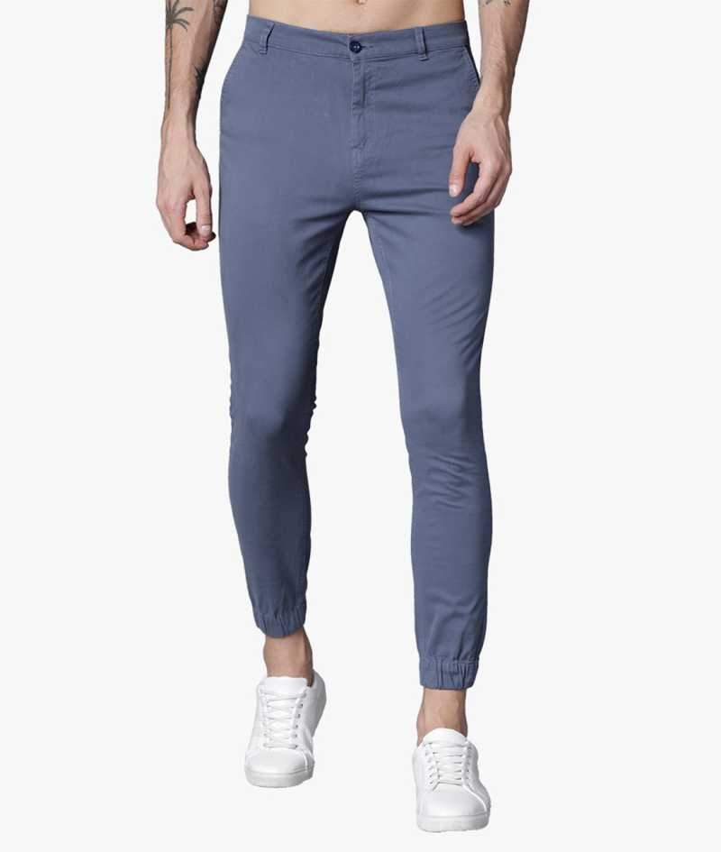 Steel grey Cuffed Slimfit Chinos PRICE : Rs.849 | Book For Rs.31 Only
