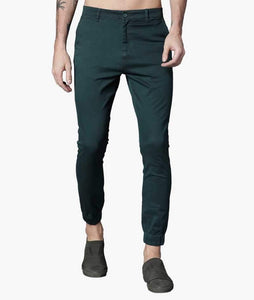 Bottle Green Cuffed Slimfit Chinos PRICE : Rs.849 | Book For Rs.31 Only