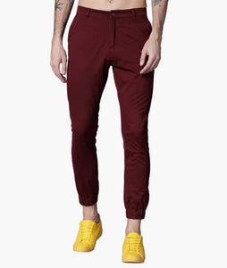 Maroon Cuffed Slimfit Chinos PRICE : Rs.849 | Book For Rs.31 Only