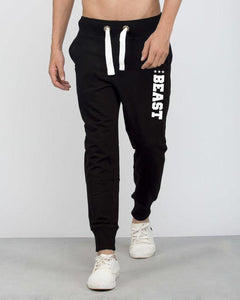 Beast Premium Solid Black Thick Joggers