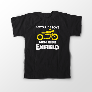 Boys Ride Toys Enfield Official Black Half Sleeve T-Shirt - Badtamees