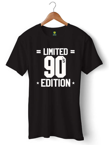 90'S Limited Edition Black Half Sleeve T-shirt - Badtamees