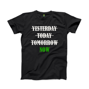 Do it now Gym Black Half Sleeve T-Shirt - Badtamees