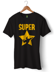JOHNNY BRAVO SUPERSTAR Half Sleeve T-shirt - Badtamees