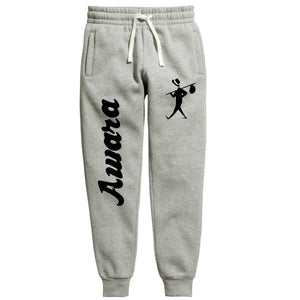 Awara: Summer Slim Fit Men's Fleece Grey Joggers - Badtamees