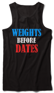 Weights before dates Tank Vest Black - Badtamees