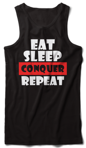 Eat Sleep Conquer Tank Vest black - Badtamees