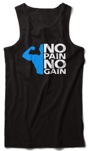 No pain no gain Tank Vest Black - Badtamees