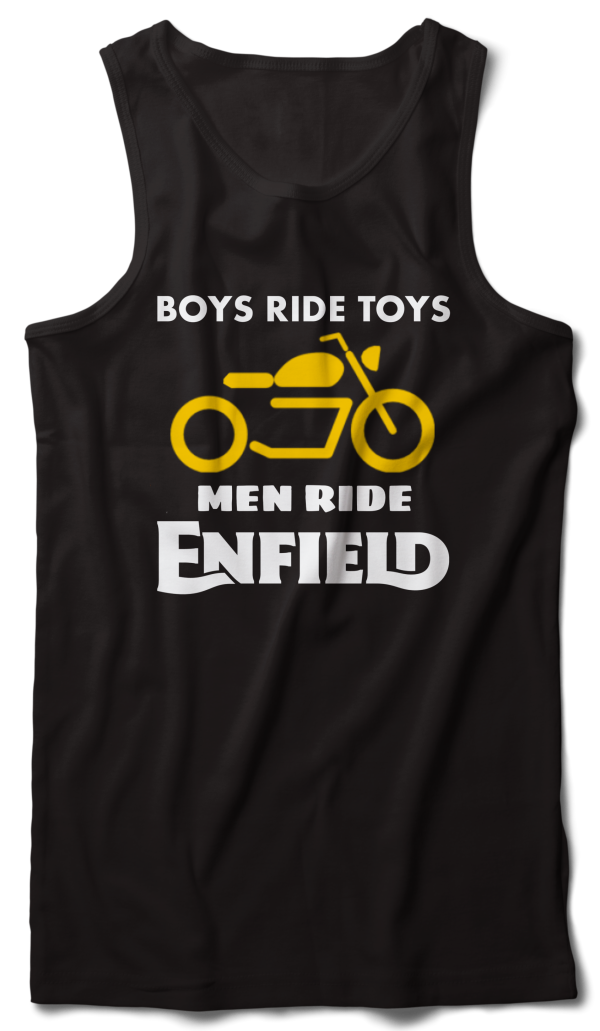 Boys ride toys official Enfield Tank Vest black - Badtamees