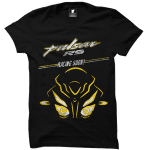 Pulsar RS Racing Soon Official Black Half Sleeve Premium T-Shirt