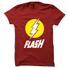 Best Seller: Flash 3D Red Half Sleeve T-Shirt(Glow In Dark) - Badtamees
