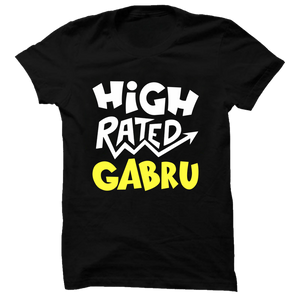 High Rated Gabru Black Half Sleeve T-Shirt - Badtamees