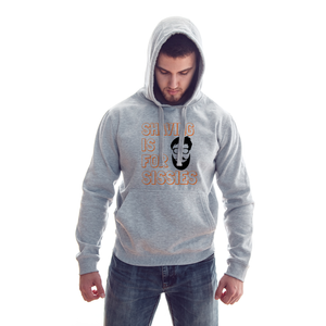 Shaving Is For Sissies Grey Melange Hoodie - Badtamees