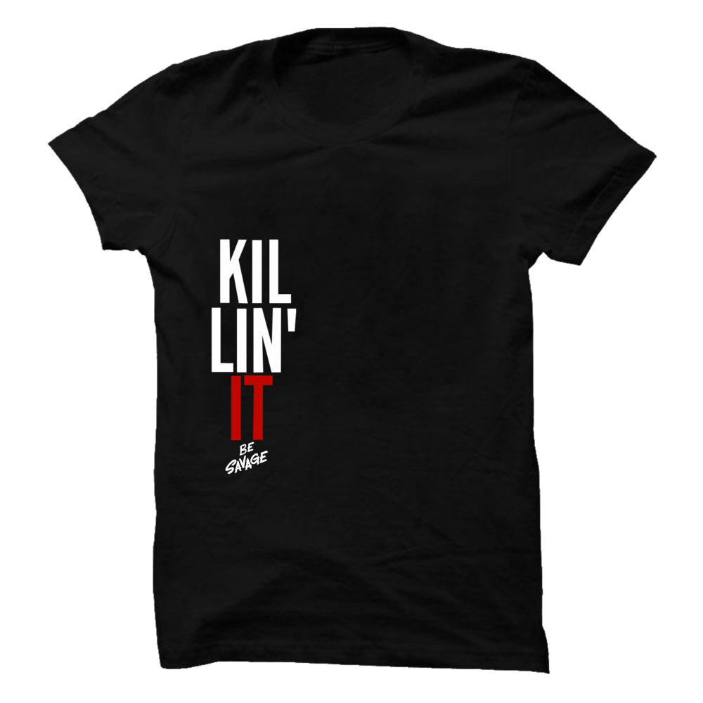 Killin It Premium Black Half Sleeve T-Shirt