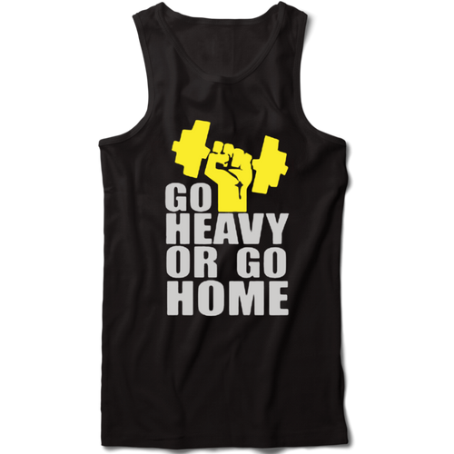 Go Heavy or Go home Premium Gym Tank Vest - Badtamees