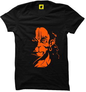 Hanuman Ji Black powerful T-Shirt - Badtamees