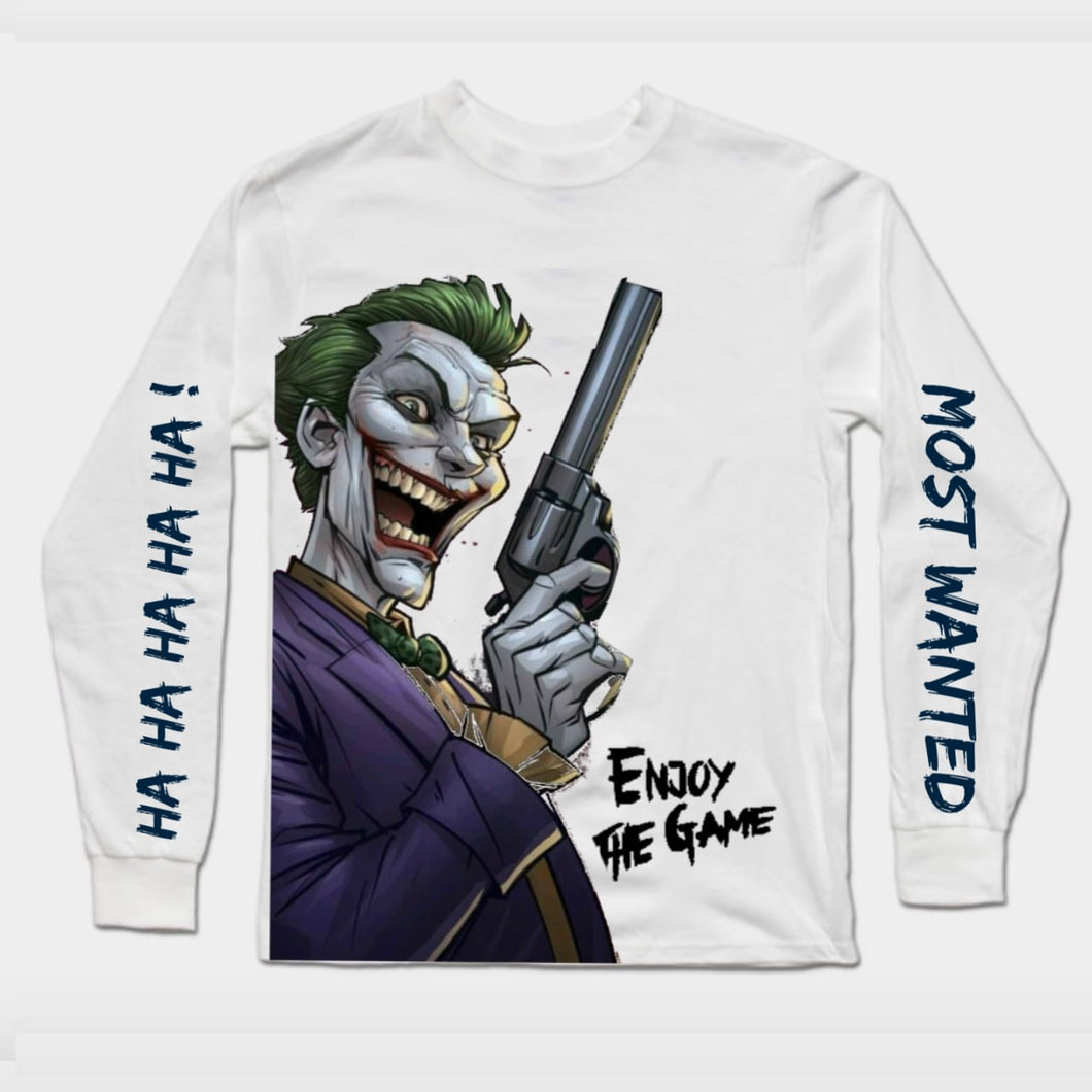 Joker Long Sleeves white T-SHIRT