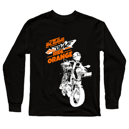 Ride Orange Premium New KTM Premium Official Black Full Sleeve Premium T-Shirt