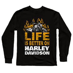 Harley Davidson Life Premium Official Black Full Sleeve Premium T-Shirt