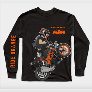 Long Sleeves Black ktm T-Shirt