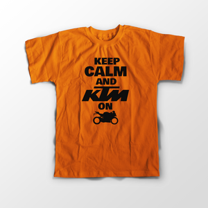 KTM Official RC Orange Half Sleeve T-Shirt - Badtamees