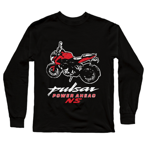 Pulsar NS Red Power Ahead Official Black Full Sleeve Premium T-Shirt