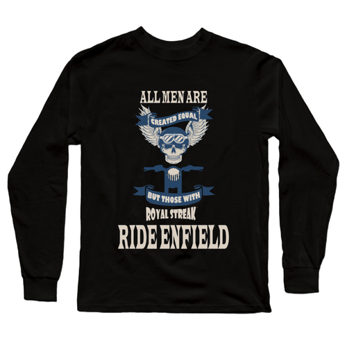 Royal Streak Royal Enfield Official Black Full Sleeve Premium T-Shirt