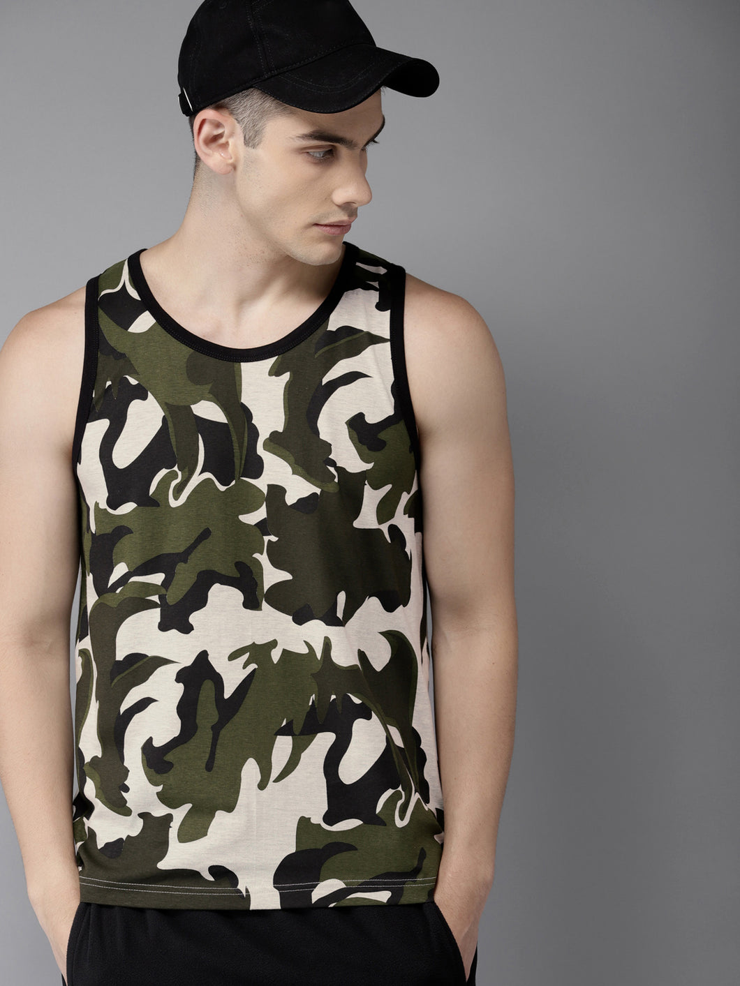 Contemporary Camouflage premium Tank Tee PRICE: Rs. 499 | Book for Rs. 31 only