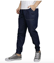 Men's Tech Stretch Denim Slim Fit Joggers with Pockets Blue Amazn Edition