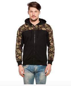 Zen Camouflage Full Sleeves Zipper Hooded Sweatshirt