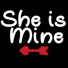 He's Mine Shes's mine black Red Tshirt Combo - Badtamees