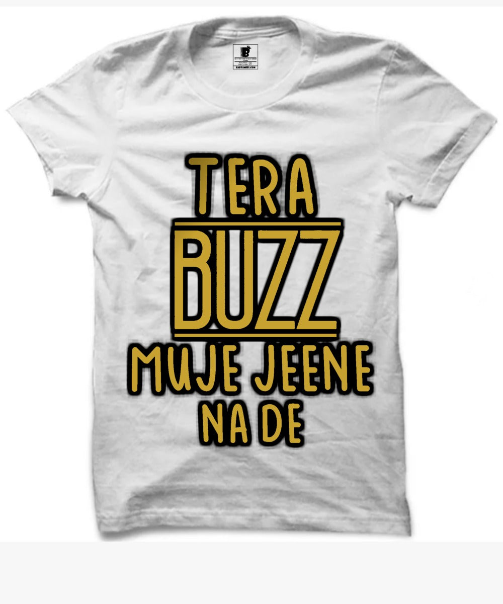 Tera Buzz Aastha gill Official Premium White Half Sleeves T-Shirt