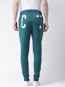 Men's Teal Green Graphic Printed Slim-Fit Jogger PRICE : Rs.749 | Book For Rs.31 Only