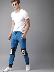 Men Blue & Black Colour blocked Joggers PRICE : Rs.649 | Book For Rs.31 Only
