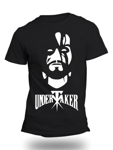 The Undertaker WWE Official Black Half Sleeve T-Shirt - Badtamees