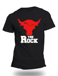 The Rock WWE Official Black Half Sleeve T-Shirt - Badtamees
