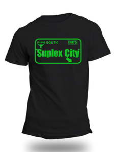 Brock Lesner Suplex City WWE Official Black Half Sleeve T-Shirt - Badtamees
