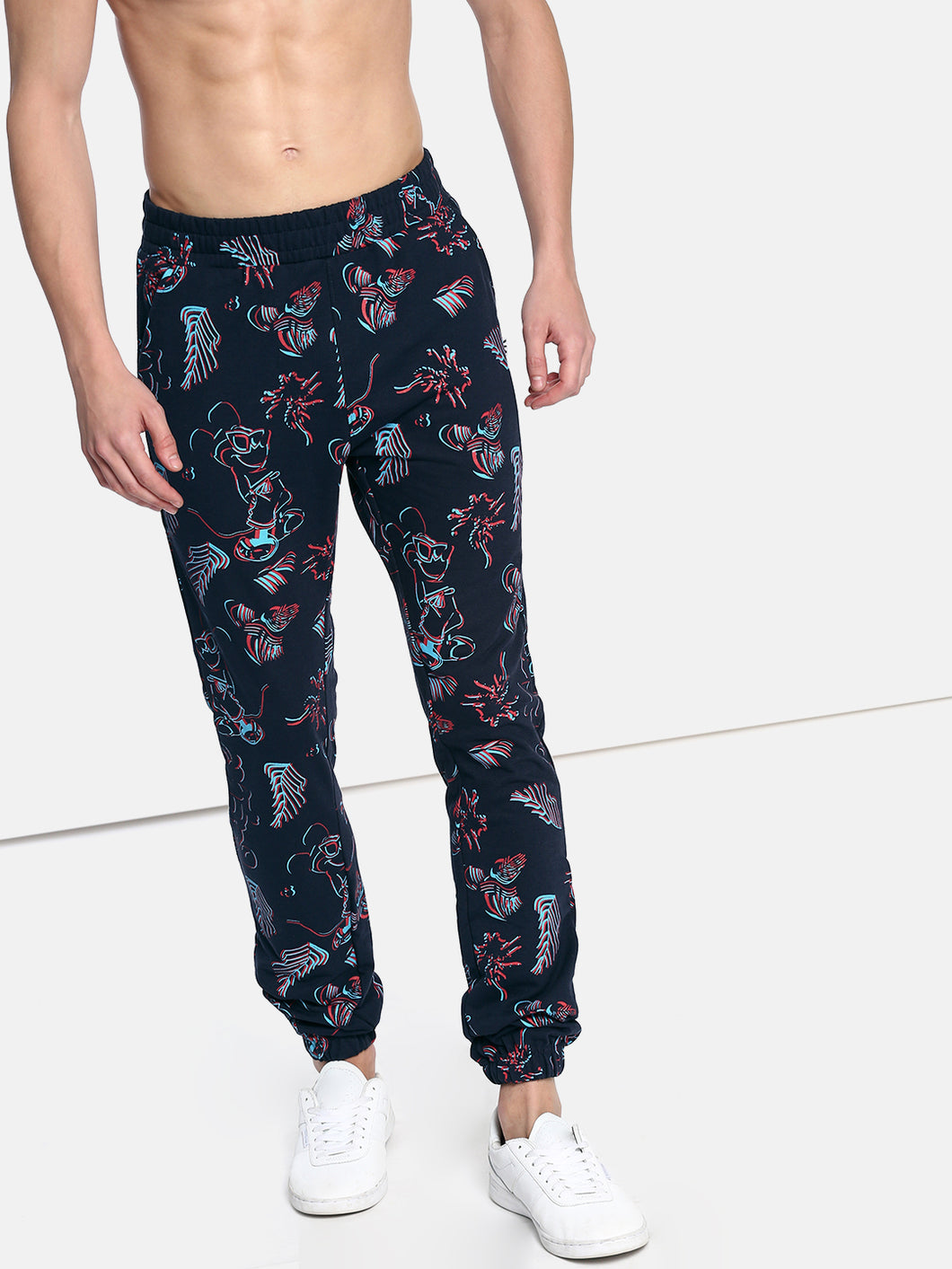 Navy Blue Printed Joggers PRICE : Rs.799 | Book For Rs.31 Only
