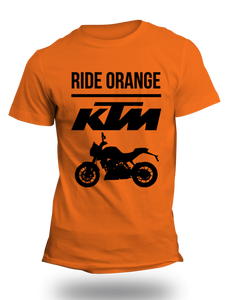KTM Official DUKE Orange Half Sleeve T-Shirt - Badtamees
