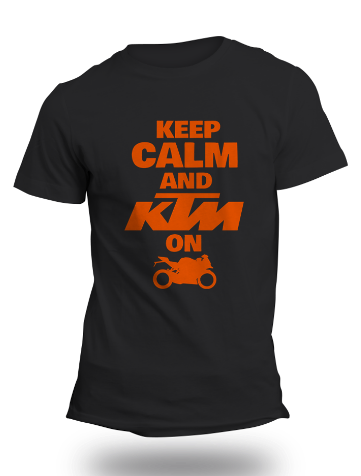KTM Official RC Black Half Sleeve T-Shirt - Badtamees