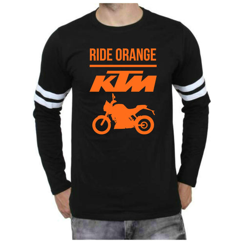 KTM Official DUKE Full sleeve Sports Trim black T-Shirt - Badtamees