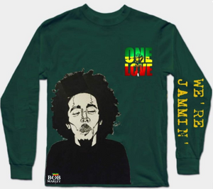 bob marley green full sleeves T-Shirt