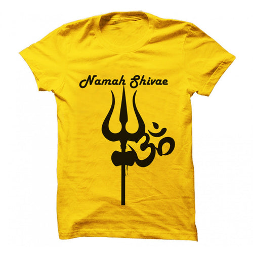 Om Namah Shivae Yellow Supreme T-Shirt ॐ - Badtamees