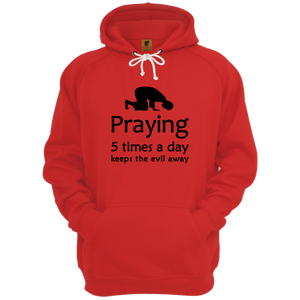 Praying 5 Times a day Red Hoodie - Badtamees