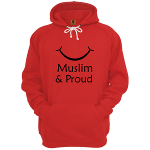 Muslim and proud With Smile Red Hoodie - Badtamees