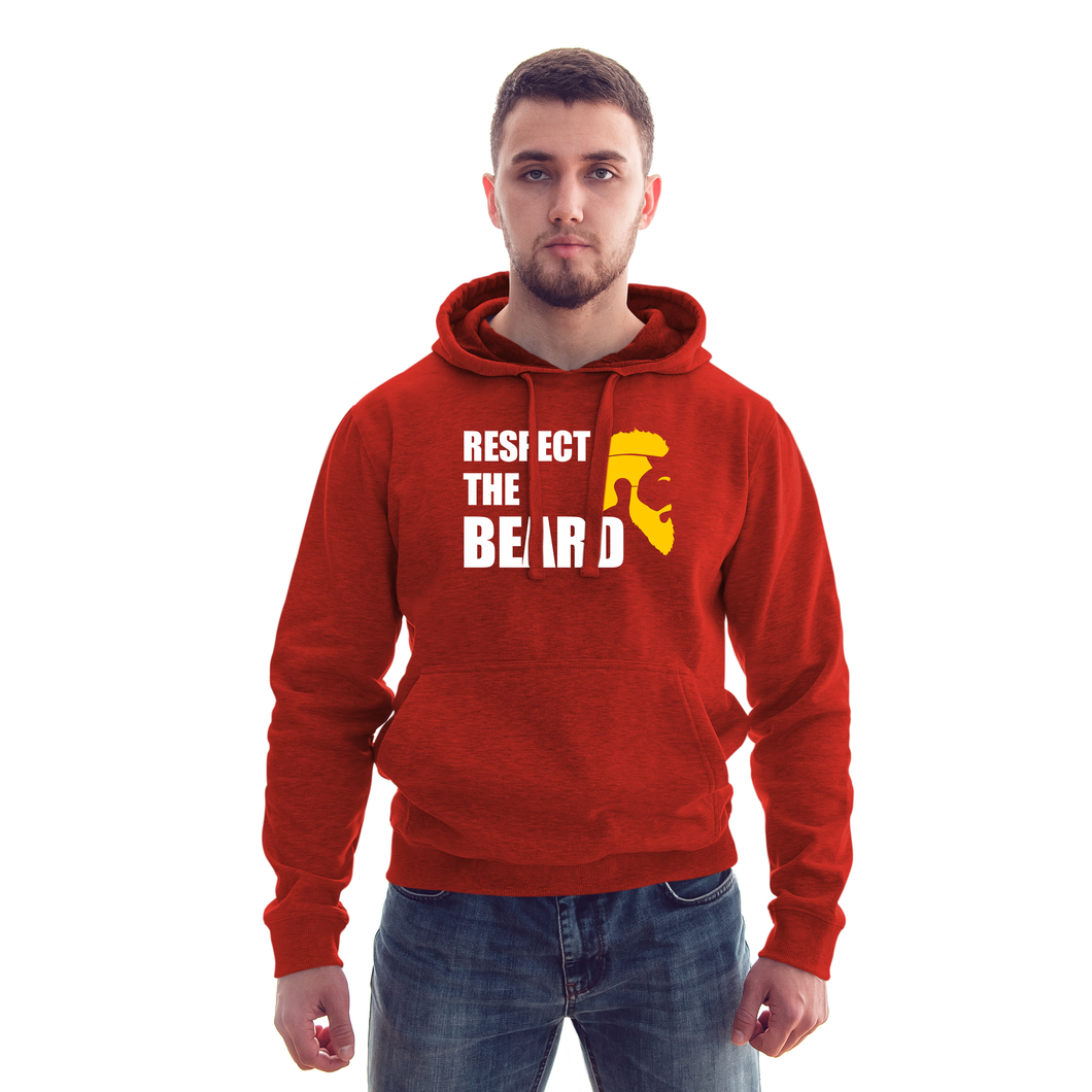 Respect The Beard Red Hoodie - Badtamees