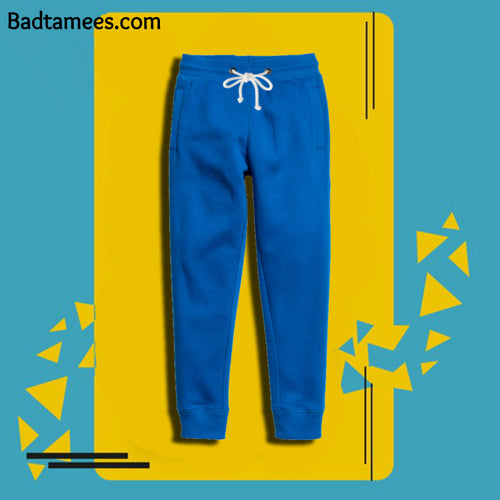 Premium Solid Royal Blue Thick Joggers
