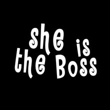 She is the boss black Tshirt Combo - Badtamees