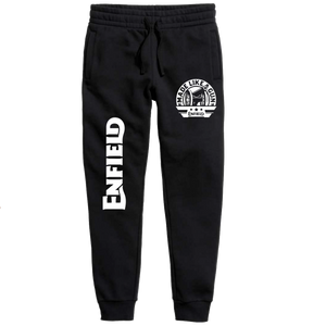 Made Like a gunRoyal enfield official Black Joggers - Badtamees