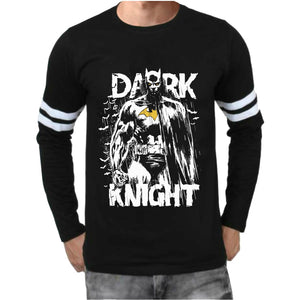 Powerful Dark Knight Artistic Full Sleeve Black T-Shirt(Glow In Dark) - Badtamees